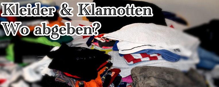 Kleider und Klamotten abgegeben