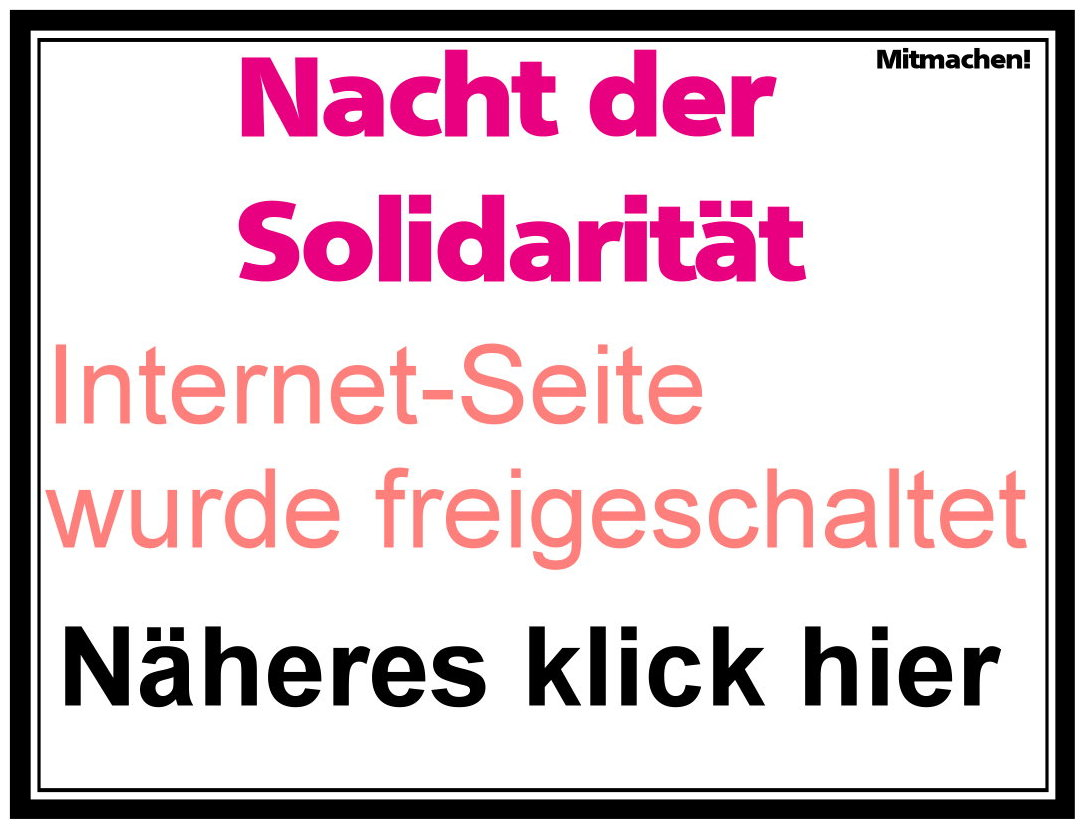 Nacht der Solidarität - obdachlose zählen berlin