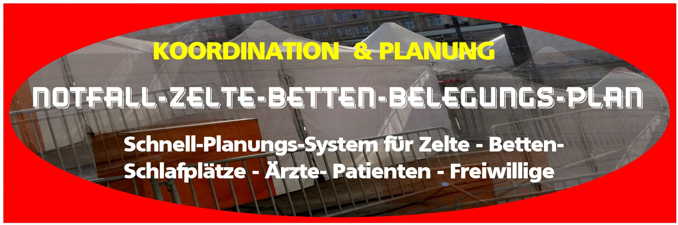 Notfall-Zelte-Betten-Planungs-System
