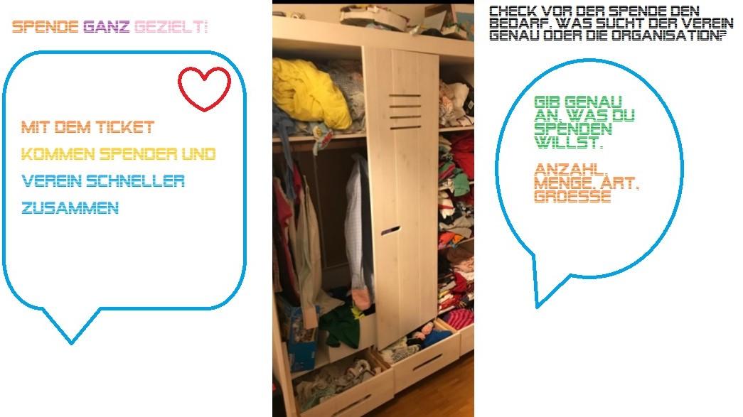 digitale wäsche-ticket kleiderkammern